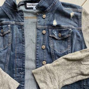 Express Jean Jacket w/ Hoodie